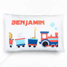 Train Personalized Name Pillowcase