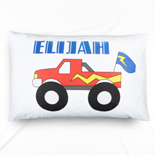Blue Truck Personalized Name Pillowcase For Kids