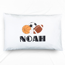 Sports Personalized Name Pillowcase