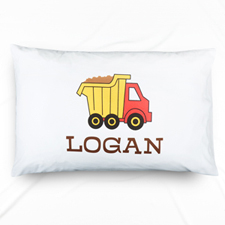 Truck Personalized Name Pillowcase
