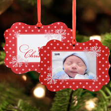 First Snowflake Christmas Personalized Metal Ornament