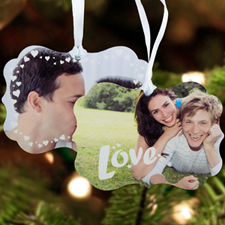 Love Personalized Metal Ornament Ornate 3