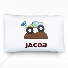 Pickup Truck Personalized Name Pillowcase