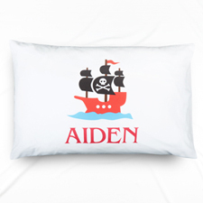 Pirate Personalized Name Pillowcase