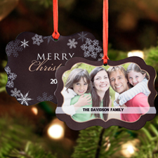 Wonderful Year Personalized Metal Ornament Ornate 3