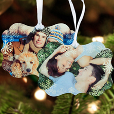Snowflake Personalized Metal Ornament Ornate 3