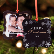 Wonderful Year Personalized Metal Ornament Square 3X3