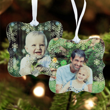 Snowflake Personalized Photo Metal Ornament Ornate 3
