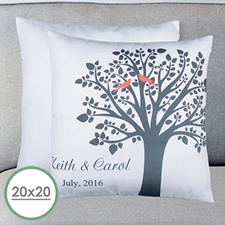 Love Birds Personalized Large Pillow Cushion Cover 20