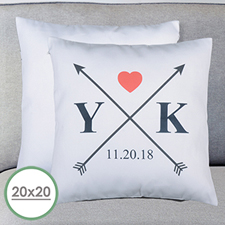 Wedding Arrow Personalized Large Pillow Cushion Cover 20