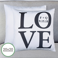 Love Personalized Large Pillow Cushion Cover 20