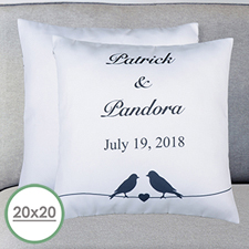 Wedding Couple Personalized Large Pillow Cushion Cover 20