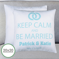 Keep Clam & Marry Personalized Large Pillow Cushion Cover 20
