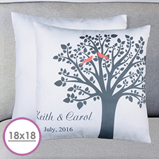 Love Birds Personalized Large Cushion 18