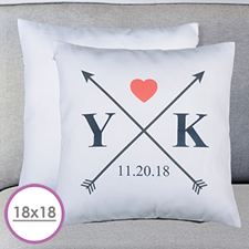 Wedding Arrow Personalized Large Cushion 18