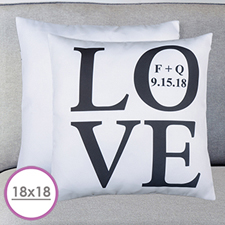 Love Personalized Large Cushion 18