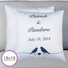 Wedding Couple Personalized Large Cushion 18
