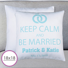 Keep Clam & Marry Personalized Large Cushion 18