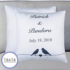 Wedding Couple Personalized Pillow Cushion Cover 16