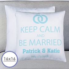 Keep Clam & Marry Personalized Pillow Cushion Cover 16
