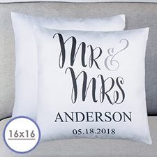 Mr. And Mrs. Personalized Pillow Cushion Cover 16