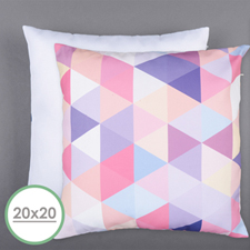 20 X 20 All Over Print Pillow (White Back) Cushion (No Insert)