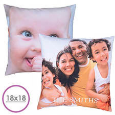 18 X 18 Photo Gallery Personalized Pillow ((Front And Back) Cushion (No Insert)