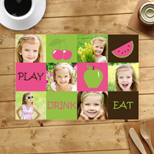 Personalized Six Collage Placemats