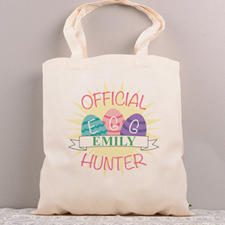 Official Easter Egg Hunter Personalized Tote Bag Pink