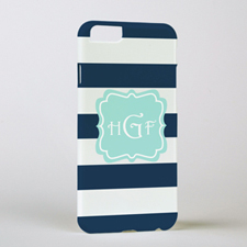 Navy Stripe Personalized Phone Case, iPhone 6
