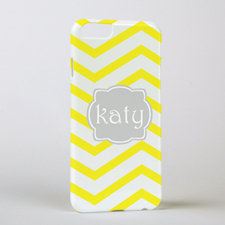 Lemon Chevron Personalized iPhone 6 Case