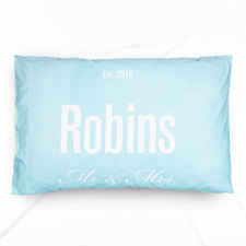 Mr. And Mrs. Personalized Pillowcase