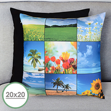 Nine Collage Personalized Large Pillow Cushion Cover 20