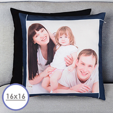 Navy Frame Personalized Pillow Cushion Cover 16