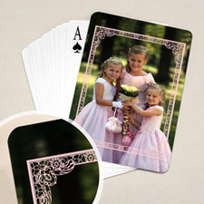 Wedding Poker Size Pink Frame Standard Index
