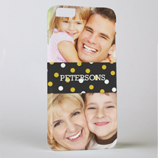 Gold Dots Personalized Photo iPhone 6+ Phone Case