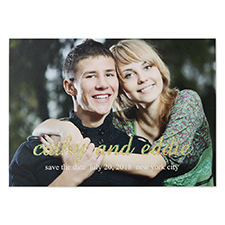 Me + You Glitter Personalized Photo Wedding Announcement Cards
