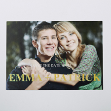 Elegant Charm Personalized Photo Glitter Save The Date Card 5X7