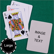 Personalized Large Size Standard Index Playing Cards