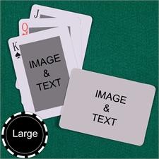 Personalized Large Size Classic Custom 2 Sides Landscape Back Playing Cards