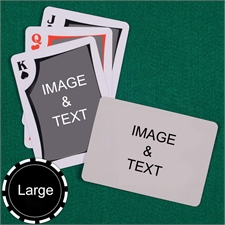 Personalized Large Size Modern Custom 2 Sides Landscape Back Playing Cards