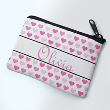 Many Hearts Personalized Coin Purse
