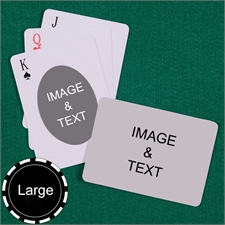 Personalized Large Size Ovate Custom 2 Sides Landscape Back Playing Cards