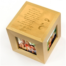 Friendship Personalized Engraved Wooden Photo Cube