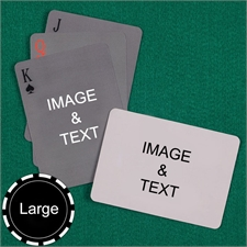 Personalized Large Size Simple Custom 2 Sides Landscape Back Playing Cards