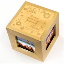 Bridesmaids Personalized Engraved Wooden Photo Cube