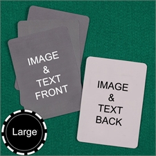Personalized Large Size Custom Cards (Blank Cards) Playing Cards