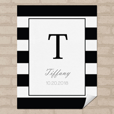 Black Stripe Personalized Name Poster Print Small 8.5
