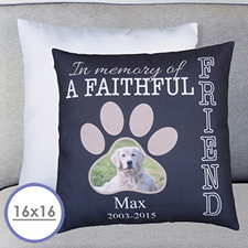 Faithful Friend Personalized Large Cushion 18