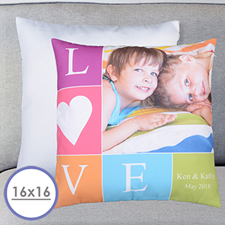 Love Photo Personalized Large Cushion 18